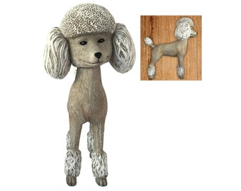 Adorable Standard Poodle Collectible Bobblehead Figure