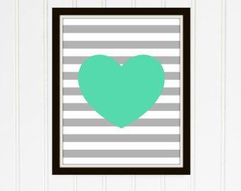 Mint Heart Emily Collection