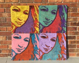 Custom Warhol Inspired Portrait