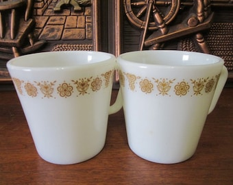 Vintage Pyrex Gold Cups Made In USA