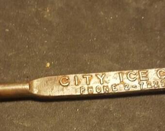 Vintage ice pick. City Ice Topeka KS