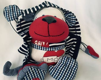Stuffed Memory Monkey made from your favorite clothes or your baby's blanket or PJ's
