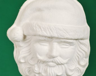 Paper Mache Santa Claus Mask by BARE NAKED CRAFTS