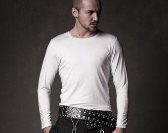 Men white sweatshirt - Stylish men sweatshirt - Viscose sweatshirt - Casual style men top - Urbanistic sweatshirt - Men fashion - SGM11-9