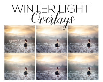 Winter Overlays | Winter Light Overlays, Photoshop overlays, light overlays, winter photoshop, winter actions, Photoshop actions