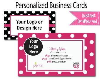 Perfectly Posh Business Cards | Card | Direct Marketing | Digital Download | Printable | Card 003