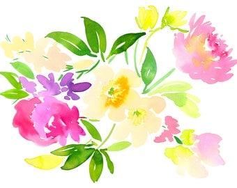 Pink Peonies Print