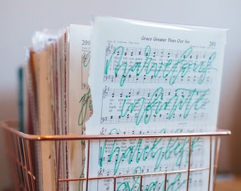 Hand Lettered Hymnal Art