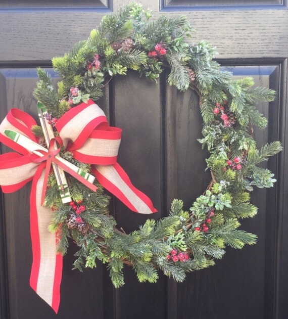 Winter Wreath, Pine Wreath, Boxwood Wreath, Wreath Street Floral, Door Wreath, Grapevine Wreath, Wreath