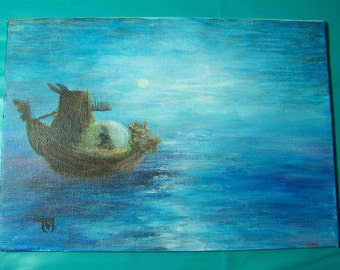 "5"" by 7"" Mini Acrylic Painting [DreamShip]"