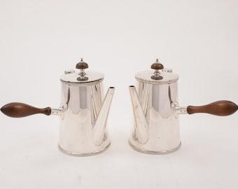 Pair of Cafe Au Lait Pots, Circa 1920