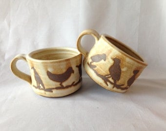 Large Bird Mugs