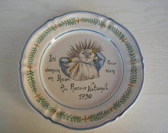Plate Moustier series French Revolution