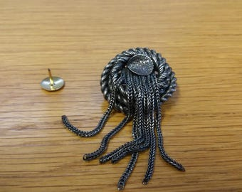 Unusual Kitsch Steampunk Marine Nautical Monster Style Brooch - Rope Sealife - Quay Marina - Art Deco