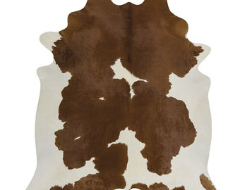 Brown and White Cowhide Rugs
