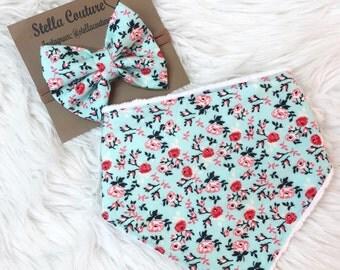 Mint floral set