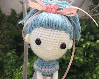 Handmade Crochet Doll, Flower Girl Gift, Gift for Girl, Handmade Doll, Handmade Toy, Dancer Doll, Gift for Her, Special Gift for Girl