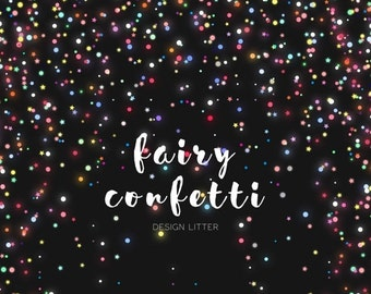 80% Until New Year - Confetti digital papers: confetti and bright confetti digital clip art PNG colorful confetti and stars digital papers f