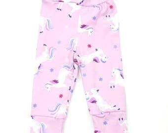 Baby Unicorn Leggings pink, Pink Leggings baby girl, leggings toddler unicorn pink