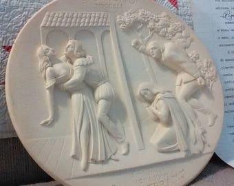 Rigoletto white alabaster collectible plate