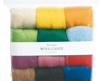 Hamanaka Woolcandy 12 colors Set Basic Selection H441-122