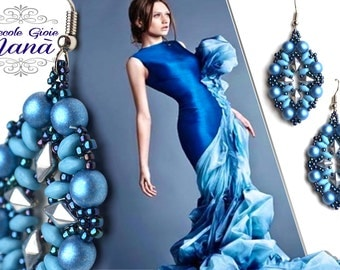 Satin Blue Pearl Earrings