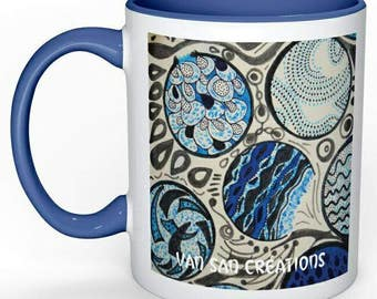 """Mugs Collection Art love - table """"Design"""""""