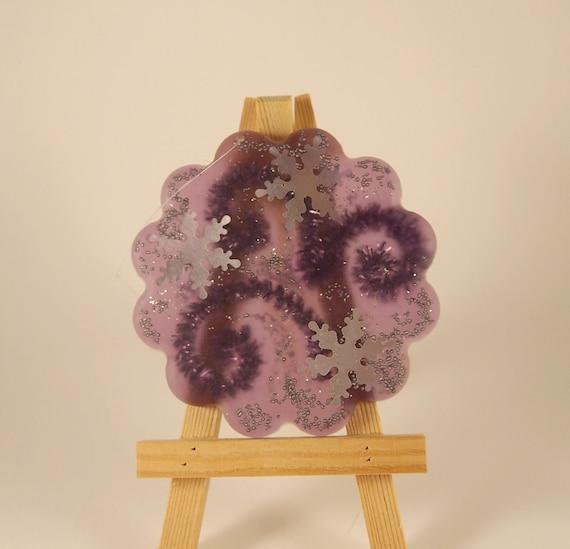 Fleur Julie violet/silver