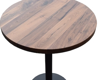 Round Pedestal Pub Table - reclaimed wood top - MADE TO ORDER