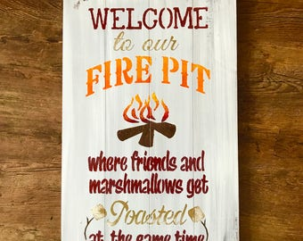 Welcome to our firepit custom colors, pick your own color sign