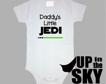 """Star Wars """"Daddy's/Mommy's Little Jedi"""" Infant/Toddler Onesie"""