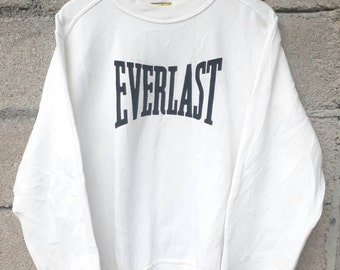 Vintage Everlast Sweatshirt White Colour Nise Design
