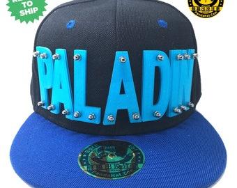 Sparkling Paladin Voltron Arcylic Letter Snapback Hat with blue brim