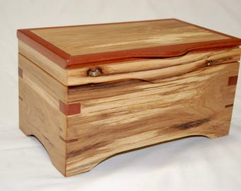 Wooden Keepsake Box - Spalted Maple and Black Cherry