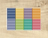 56 Multi-coloured Daily Hydrate Stickers for Erin Condren LifePlanner