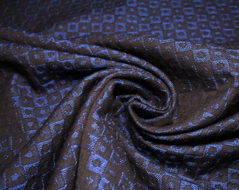 Fabric meter: Cotton jacquard fabric with geometric embossed patterns.