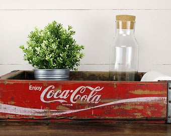 Vintage Coca Cola Crate, Red Coca Cola Crate, Vintage Coke Crate, Red Coke Crate