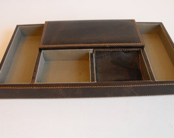 Faux Leather Desk/Drawer Organizer Fossil Valet   (657)