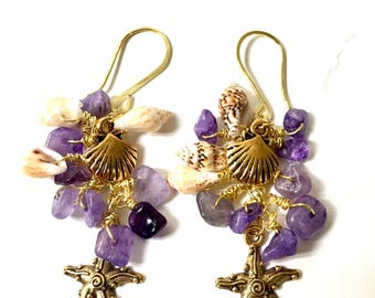 Beach waterfall earrings