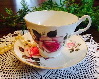 Royal Stuart teacup and saucer
