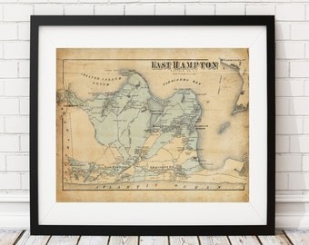 Hamptons map  Etsy