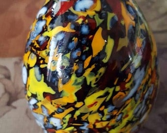 Large multicolored paperweight