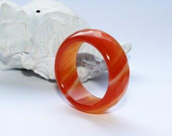 Ring, ring finger, bracelets, gemstone ring, agate ring, Ø 18 mm