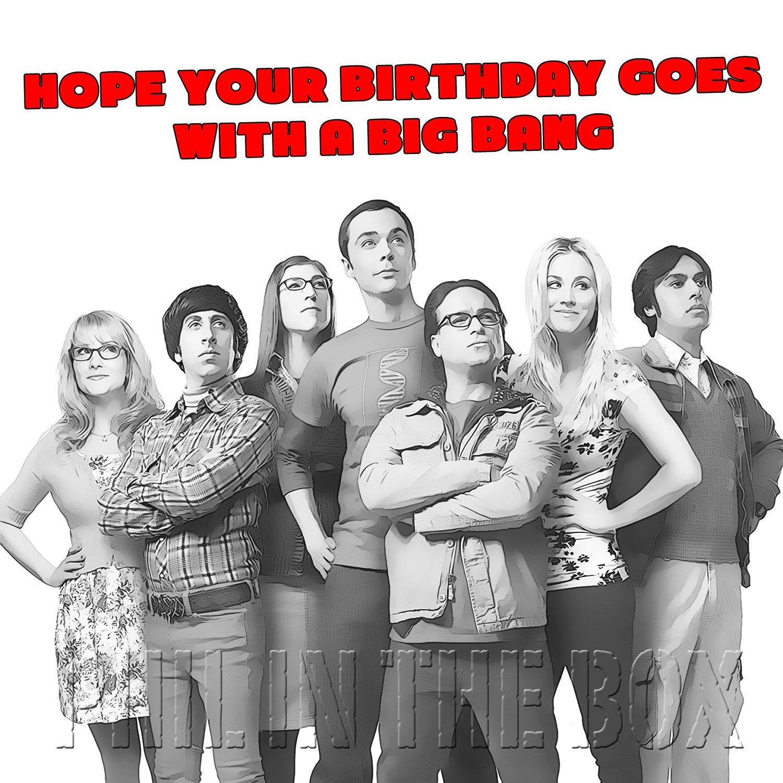 Big Bang Theory Birthday Card Big Bang birthday tv themed – Big Bang Theory Birthday Card