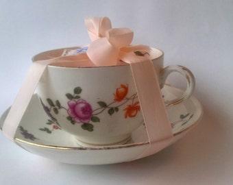 ECO Soya Wax Teacup Candle, Sweet Pea