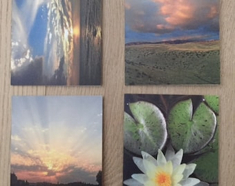 Peaceful Visions set of four cards