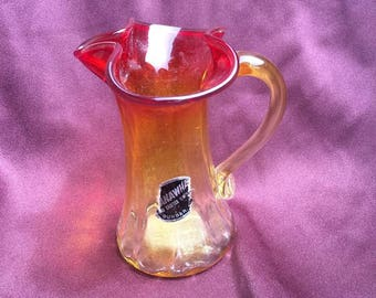 Amberina Kanawha Hand Crafted Glass Small Pitcher