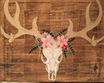 Flowers and Bones 16x20