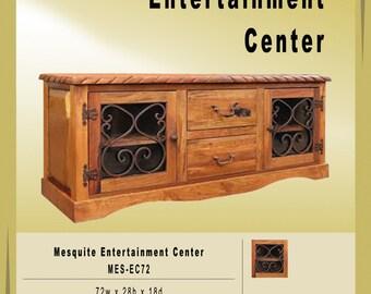 Mesquite Handmade and handcarved Entertainment Center