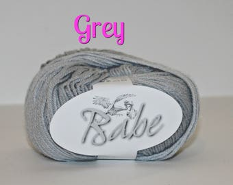 Babe by Euro Baby - Bright Solid Shades, Vibrantly Colored Yarn, Perfect for things for baby, accessories, toys, blankets, hats, and more